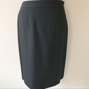 Lafayette 148 New York Black Suit Skirt Size 6